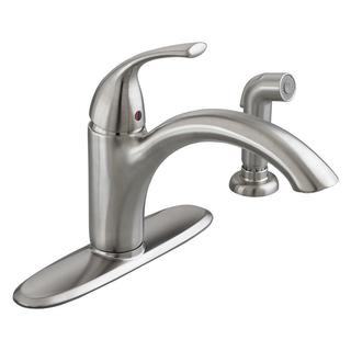 American Standard Quince Single-Handle Standard Kitchen Faucet with Side Sprayer in Stainless Steel
