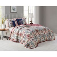 The Curated Nomad Stanyan 5-piece Floral Quilt Set