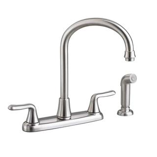 American Standard Colony Soft 2-Handle Standard Kitchen Faucet in Stainless Steel