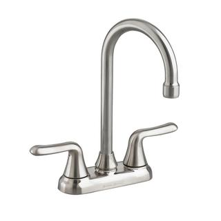 American Standard Colony Soft 2-Handle Bar Faucet in Stainless Steel
