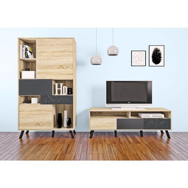 Shop Nashville Mid Century Style Wood Tv Stand Free Shipping Today