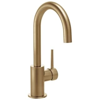 Lovely Delta Contemporary Single Handle Bar Faucet In Champagne Bronze