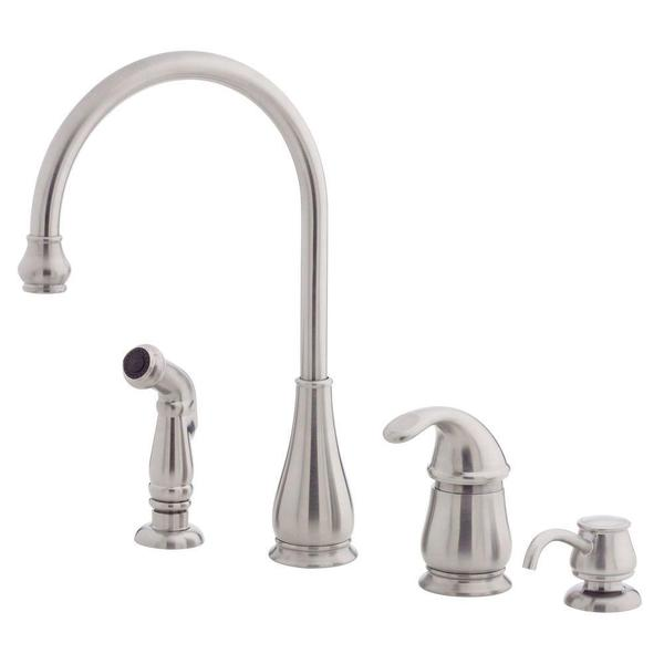Shop Pfister Treviso Single Handle Side Sprayer Kitchen Faucet And