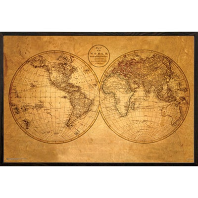 Old world map framed print free shipping today overstock old world mapx27 framed print sciox Gallery