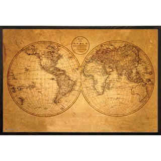 Old world map framed print free shipping today overstock old world map framed print gumiabroncs Image collections