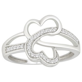 Trillion Designs Sterling Silver 1/8ct TDW Natural Diamond Ring (H-I, I1-I2)