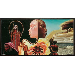 Miles Davis 'B*tches Brew' 36 x 17.5-inch Album Cover Print with Walnut Architect Picture Frame