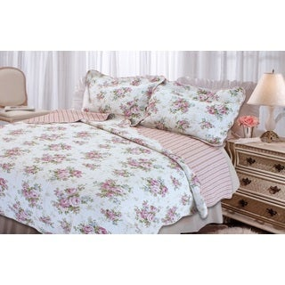 Spring Rose 3-piece Quilt Set
