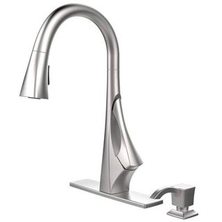 Pfister Venturi Single-Handle Pull-Down Sprayer Kitchen Faucet with Pfinish Guard in Stainless Steel