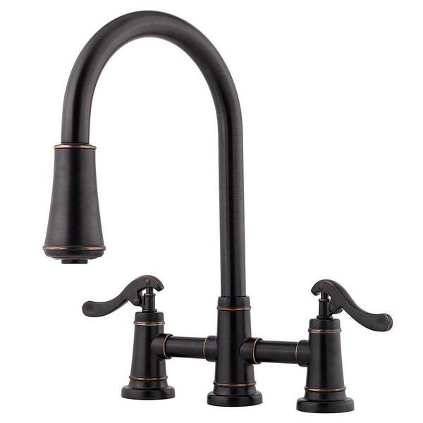 Shop Pfister Ashfield 2 Handle Pull Down Sprayer Kitchen Faucet In