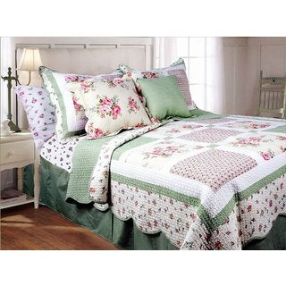 Spring Patchwork 3-piece Quilt Set