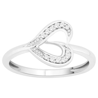Trillion Designs Sterling Silver Diamond Accent Ring (H-I, I1-I2)