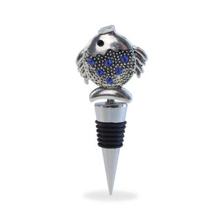 Puzzled Cheers Metal Fish Wine Stopper