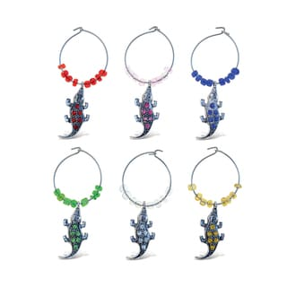 Cheers - Wine Charms - 2 Metal Alligator