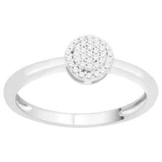 Trillion Designs Sterling Silver 1/10ct Natural Diamond Ring (H-I, I1-I2)