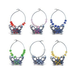 Cheers Metal Crab Wine Charms (Set of 2)