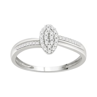 Trillion Designs Sterling Silver 1/6ct TDW Diamond Cluster Engagement Ring (H-I, I1-I2)