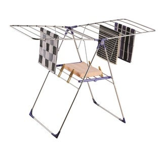 Silver Metal Foldable Drying Rack