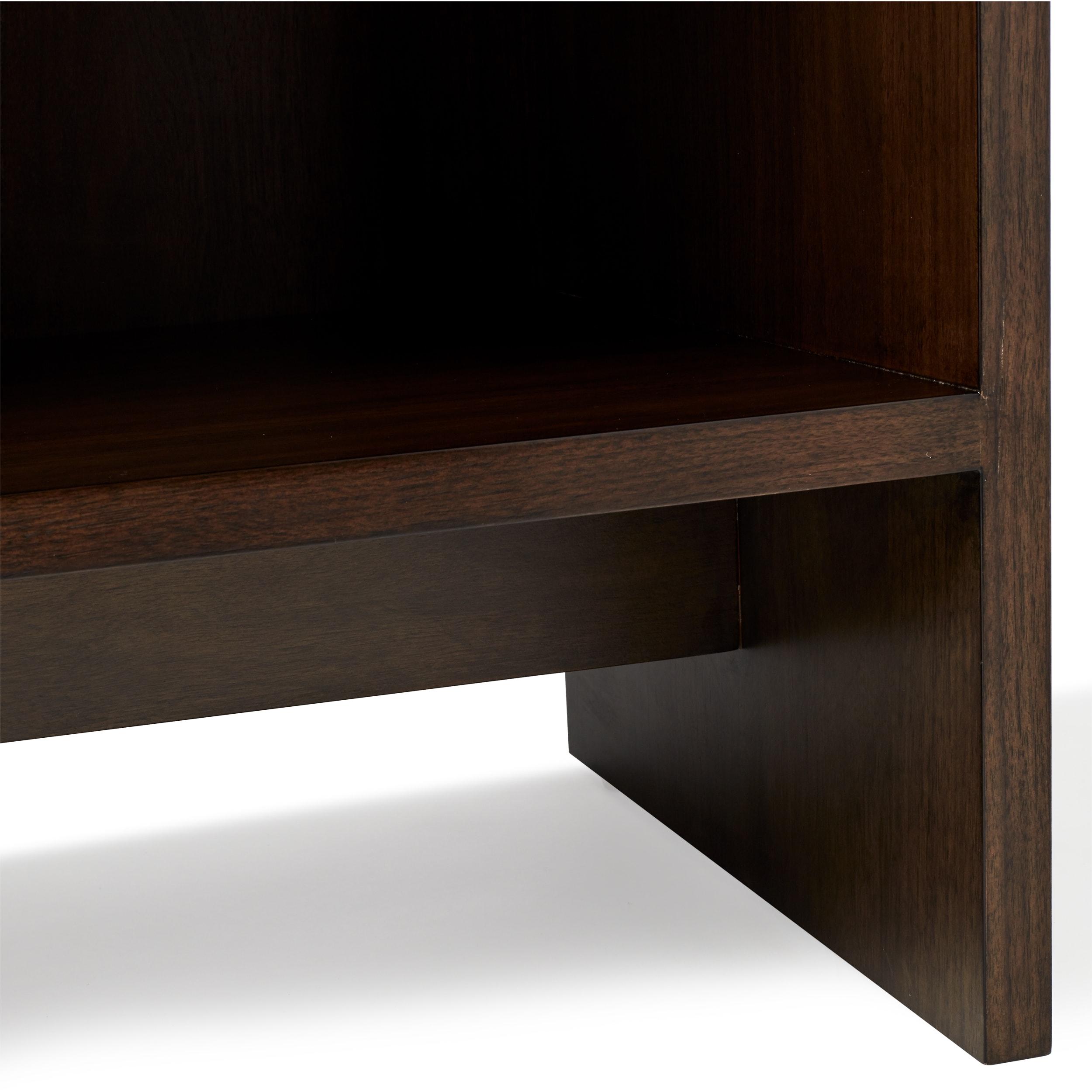Calvin Klein Contemporary Dark Walnut Finish Warren Low Bookcase Overstock 12899686