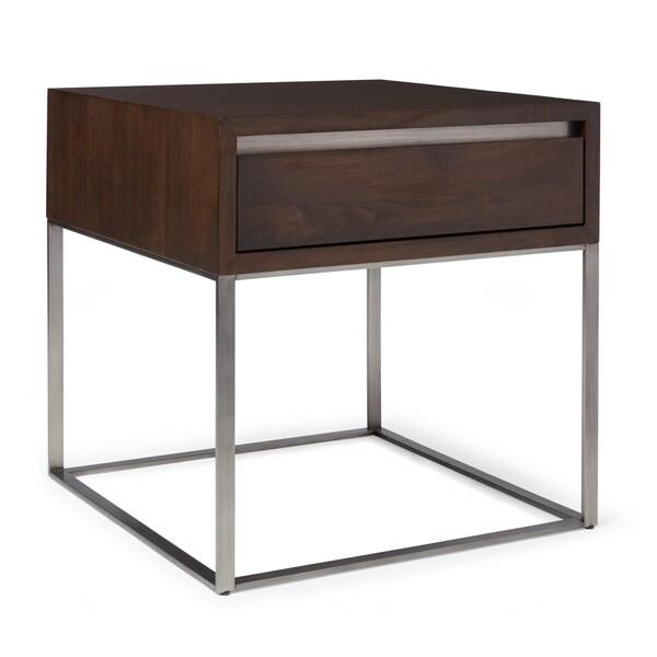 Calvin Klein Remsen Storage Walnut End Table
