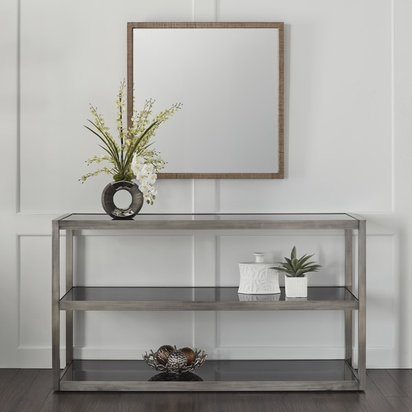 Calvin Klein Cove Stainless Steel/Glass Console Table