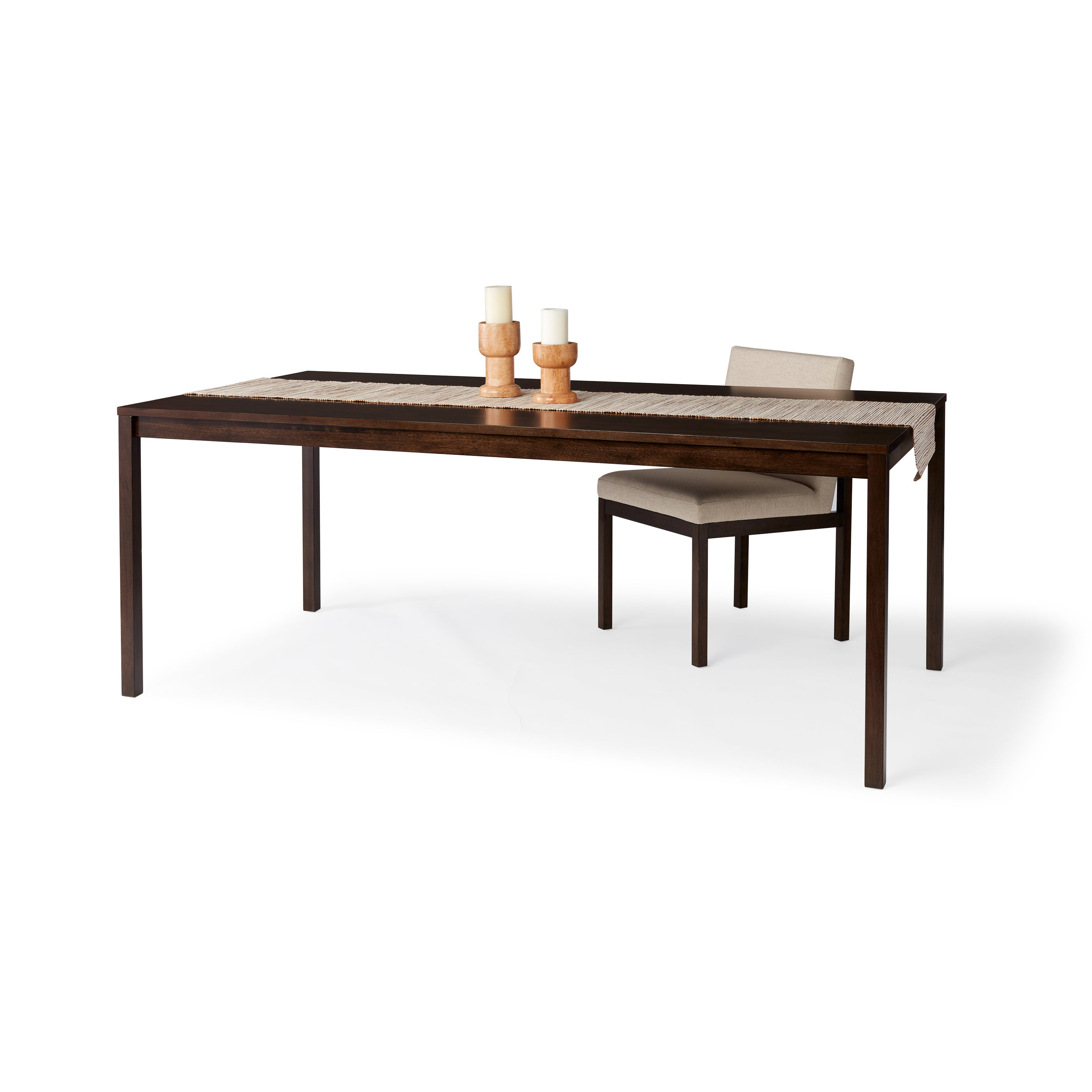 Walnut Finish Rectangular Dining Table