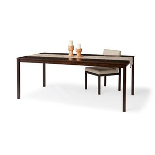 Calvin Klein Walnut Finish Rectangular Dining Table