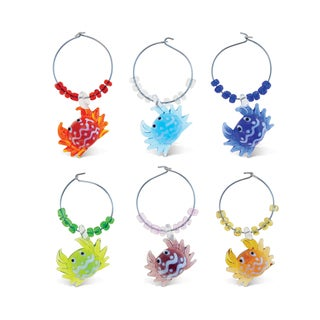 Cheers Glass Crab Wine Charms (Set of 2)