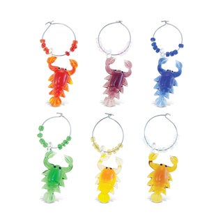 Cheers Glass Lobster Wine Charms (Set of 2)