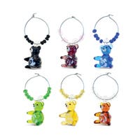 Cheers 2 Glass Colorful Bear Wine Charms