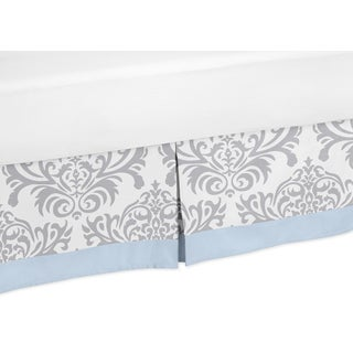 Sweet Jojo Designs Blue and Gray Avery Toddler Bed Skirt