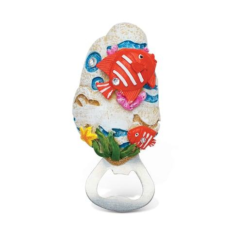 Puzzled Stone Magnet Fish Bottle Opener