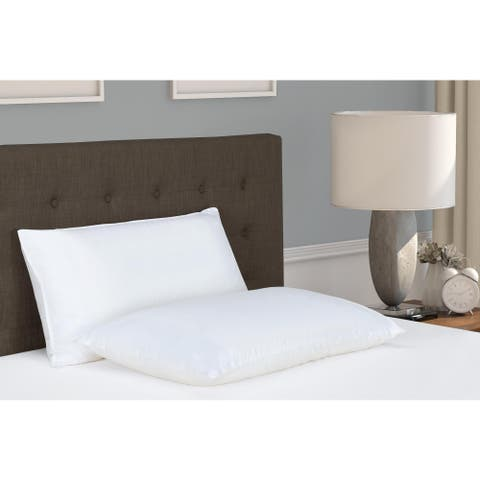 Signature Sleep Dual Memory Foam/ Fiber Pillow