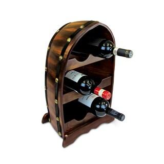 Puzzled Inc. Arthur Wood 6-Bottle Wine Rack/ Holder
