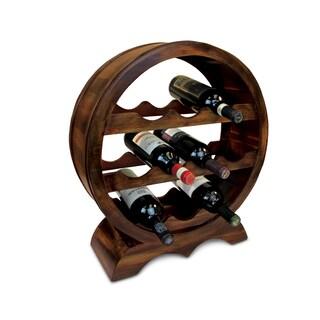 Puzzled Inc. Solomon Brown Wood 10-bottle Wine Rack