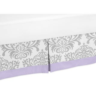 Sweet Jojo Designs Lavendar and Gray Elizabeth Toddler Bed Skirt