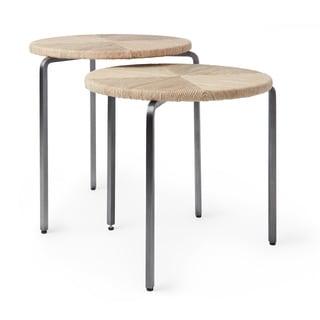 Calvin Klein Barrow Counter Height Nesting Stools (Set of 2)