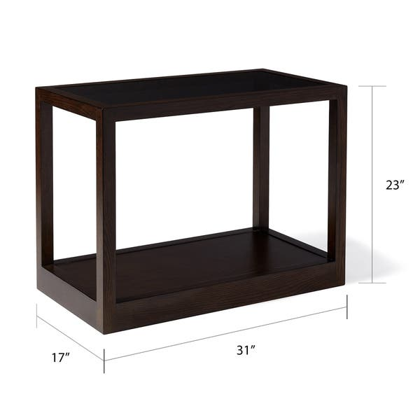 Sidetable Wit Klein.Shop Calvin Klein Gramercy Sepia Wood Glass Top Side Table