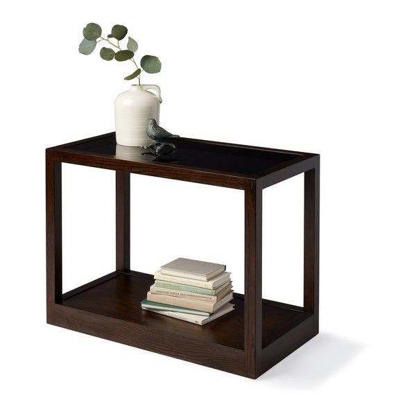 Side Table Klein.Shop Calvin Klein Gramercy Sepia Wood Glass Top Side Table