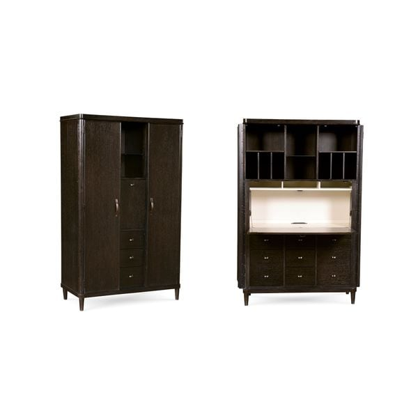 Shop A.R.T. Furniture Greenpoint Coffee Bean Secretary Chest   Free  Shipping Today   Overstock   12899839
