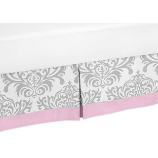 Sweet Jojo Designs Pink and Gray Elizabeth Toddler Bed Skirt