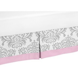 Sweet Jojo Designs Pink and Gray Elizabeth Toddler Bed Skirt