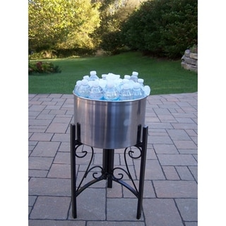 Glacier Stainless Steel 14-inch Ice Bucket with Included Stand