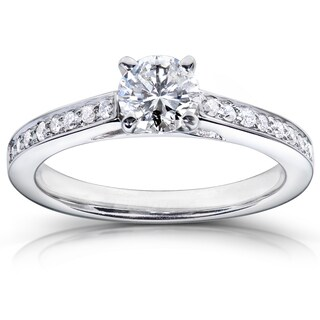 Annello by Kobelli 14k White Gold Certified 5/8ct TDW Diamond Eco-Friendly Lab Grown Diamond Engagem