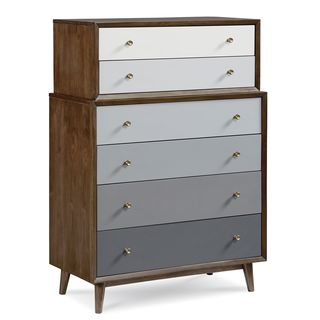 A.R.T. Furniture Epicenters Silver Lake Charcoal and Walnut Radiatta Solid Pine Drawer Chest