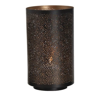 Elements Round Brown Metal Mesh Luminaries