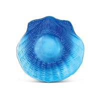 Blue Glass Decor Shell Candle Holder
