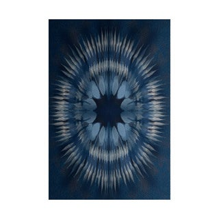 Shibori Burst Geometric Print Indoor, Outdoor Rug (4' x 6')