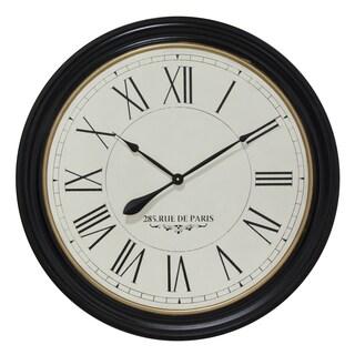 Infinity Instruments 31.5-inch Round Rue de Paris Clock