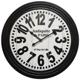 Infinity Instruments 31.5-inch Round Antiquite Clock